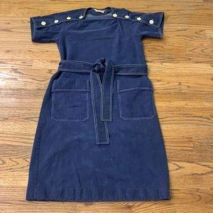 Vintage Howard Wolf Brushed Denim Dress